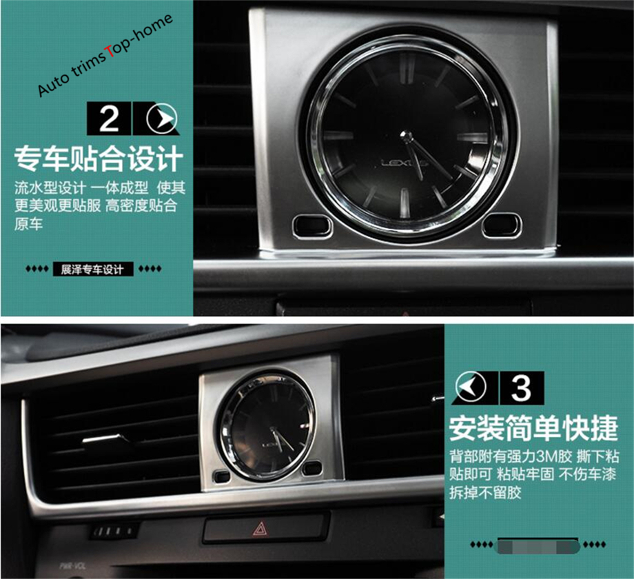 Yimaautotrims Interior ! Front Dashboard AC Air Conditioning Vent Outlet Cover Trim 7 Pcs For LEXUS RX 200t 450h 2016 2017 2018 interior vent outlet cover trim 7pcs for lexus rx200t rx450h 2016 left hand drive car