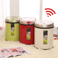 6 8 12L Colorful Trash Can Stainless Steel Garbage Infrared Touchless Automatic Car Dustbin Kitchen Sensor