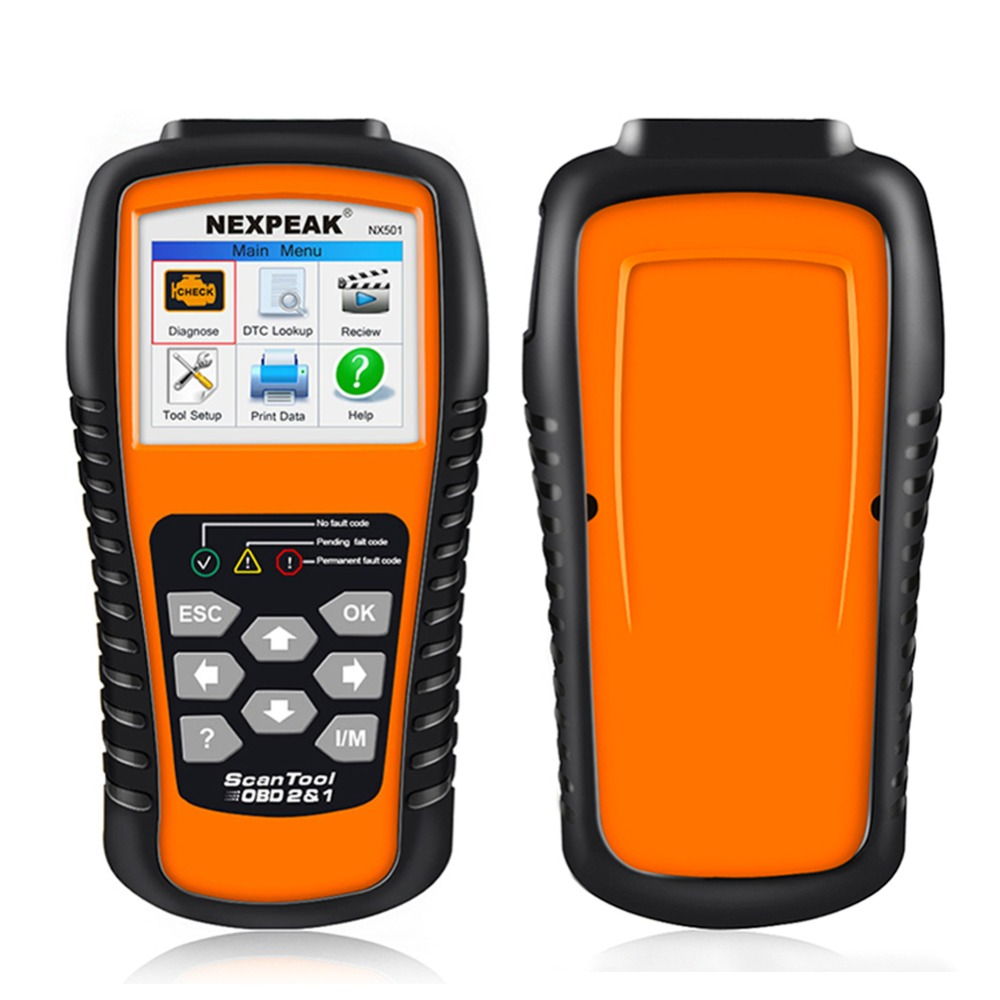 OBD OBD2 Automotive Scanner NEXPEAK NX501 Car Diagnostic Tool Scanner Auto Code Reader Detector Brake Fluid Tester Better ELM327 2016 new arrival vs 890 obd2 car scanner scantool obdii code reader tester diagnostic tools 3 inch lcd car detector