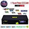 S2 DVB-T2/C V8 Freesat Ángel Receptor de Satélite Amlogic S805 Android TV BOX 1 GB/8 GB 4 K 2 K + 1 Año España Europa Cccam Cline cccc