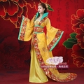 Восточных женщин royal dress желтый танец юбка Tang dynasty одежда Тан костюм Hanfu Китайский стиль костюм принцессы
