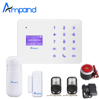 Ampand A2 터치 키패드 영어 프랑스어 러시아어 스페인어 음성 무선 GSM 홈 보안 경보 시스템 LCD 디스플레이 app 제어