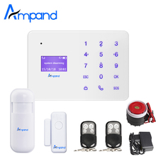Ampand A2 Touch Keypad English French Russian Spanish Voice Wireless GSM Home Security Alarm System LCD Display app control
