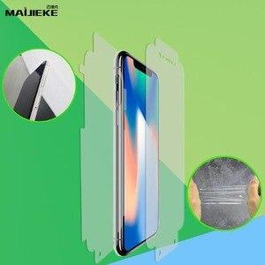 Image 4 - 2 sztuk pełna pokrywa hydrożel przednia i tylna folia dla iphone X XS Max XR 8 plus 7 6s 6 plus dla iphone 11 pro max folia zabezpieczająca ekran