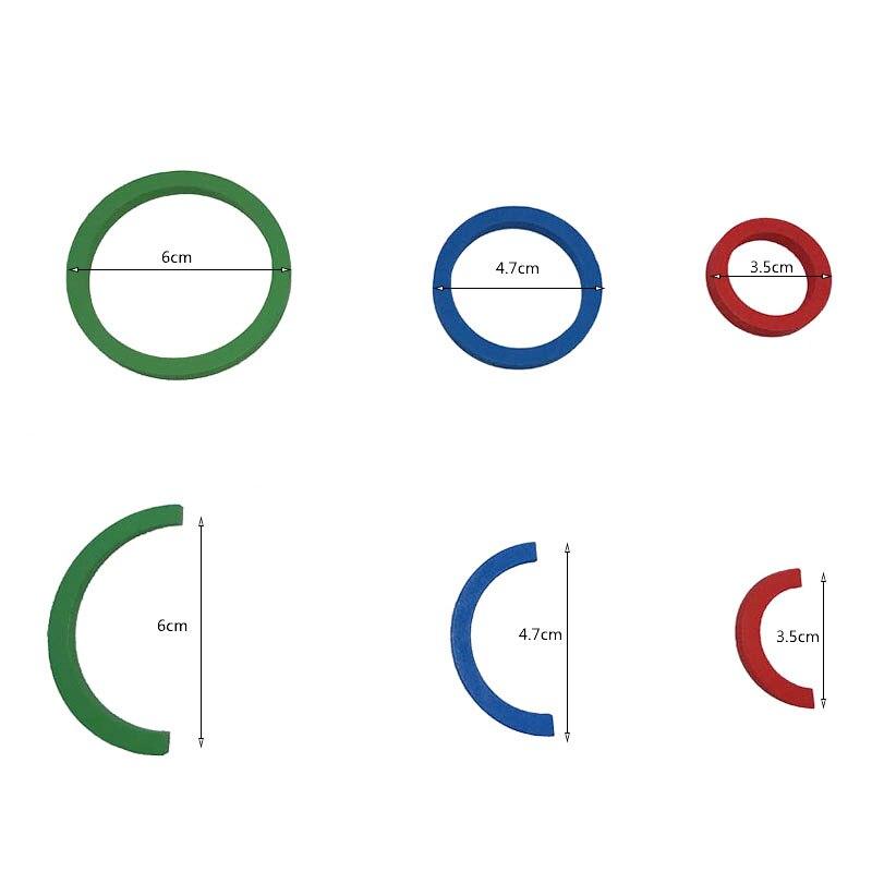 Bébé Frobel Gabe9 aides pédagogiques jouets coloré courbe cercle d'apprentissage jouets en bois pour enfants préscolaire éducatif précoce unisexe - 5