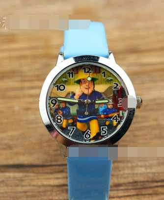 1pcs 19cm 긴 소방관 샘 만화 시계 장난감 파티 선물 소녀 컬렉션 d10