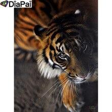 DIAPAI Diamond Painting 5D DIY 100% Full Square/Round Drill Animal tiger Diamond Embroidery Cross Stitch 3D Decor A24587 diapai 5d diy diamond painting 100% full square round drill animal cat tiger diamond embroidery cross stitch 3d decor a22099