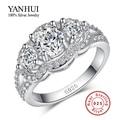 Promoción! pureza anillos de bodas de plata para mujeres 925 diamante simulado anillos joyería venta al por mayor BKJZ089