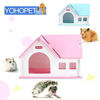 chinchilla hamster house cages for hamsters guinea pig home Hedgehog Wooden house Cage Animal small pet Comfort Villa Totoro Bed