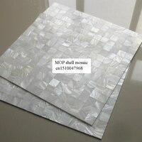 Hot kwadratowy wzór, płytki backsplash, biała masa perłowa mozaiki bez szwu powłoki mozaika darmowa wysyłka