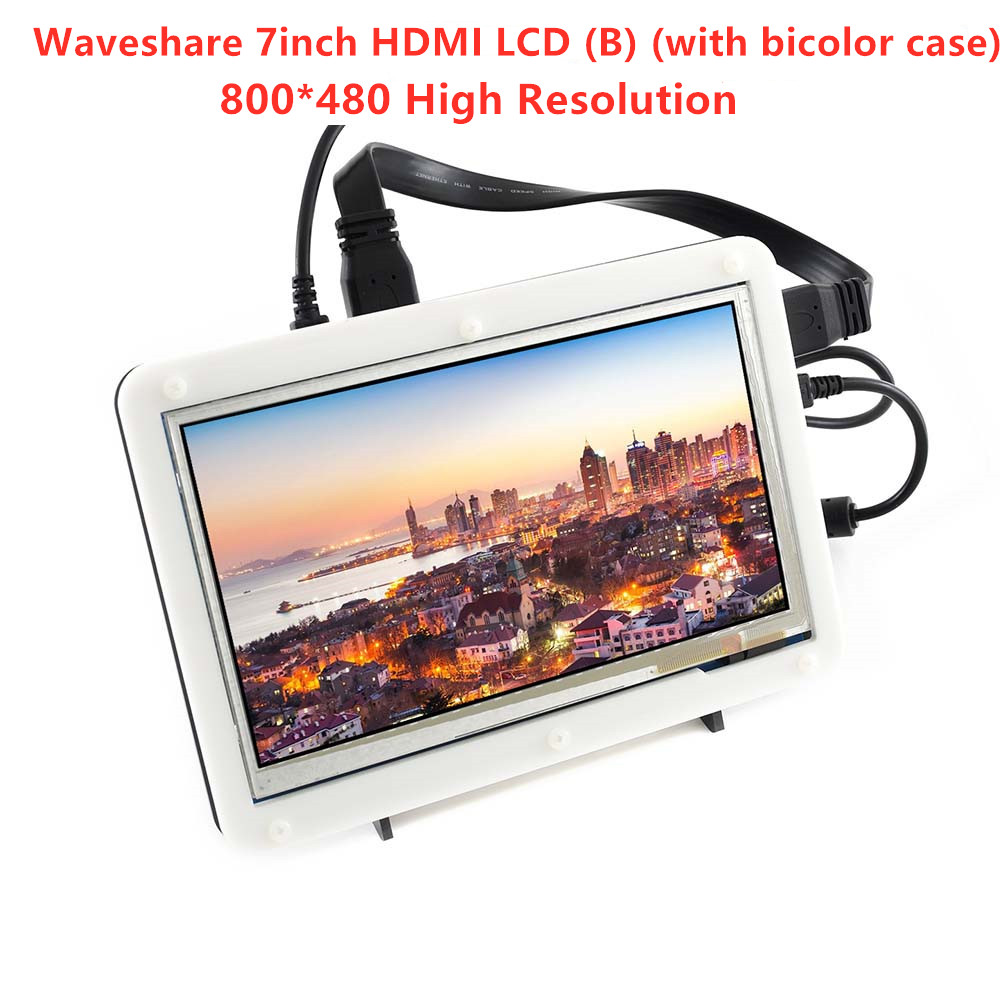Waveshare 7inch HDMI LCD (B) (with bicolor case) 800*480 Capacitive Touch Screen for Raspberry Pi & Banana Pi,Various SystemWaveshare 7inch HDMI LCD (B) (with bicolor case) 800*480 Capacitive Touch Screen for Raspberry Pi & Banana Pi,Various System