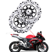 2Pcs Set Motorcycle Front Brake Disc Rotors For Suzuki Hayabusa GSX R600 GSXR 1300 600 750