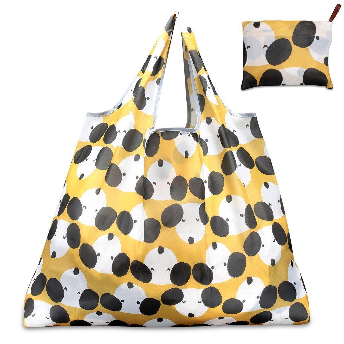купить 2018 New Foldable Handy Shopping Bag Reusable Cartoon Dog Tote Pouch Recycle Storage Handbags Home Storage Organization Bag по цене 155.71 рублей