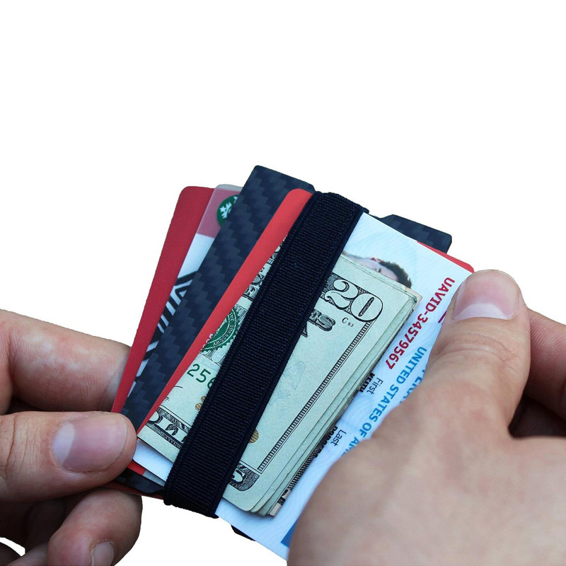 Carbon Fiber RFID Blocking Money Band Credit Card Holder Slim ...