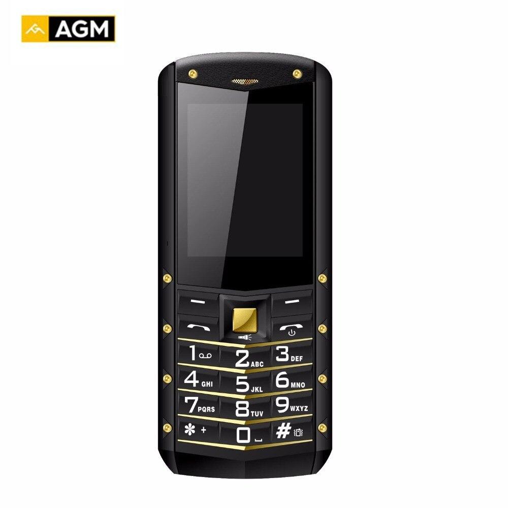 Оригинал AGM M2 русский язык IP68 Водонепроницаемый противоударный мобильный телефон 2,4 фонарик 1970 мАч Батарея FM Dual Sim