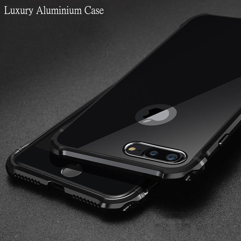 Untuk Apple iPhone 7 Kasus Merek Mewah Keras Glitter Logam Aluminium - Aksesori dan suku cadang ponsel - Foto 4
