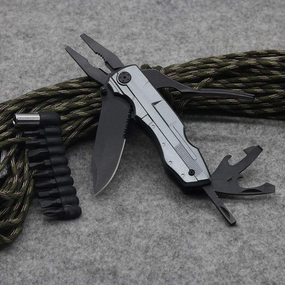Factory Direct Supply Multifunction Hand Folding Plier Pocket Survival Tool Multipurpose Screwdriver Knife Pliers ganzo multi plier g202 24 tool in one hand tool screwdriver kit portable stainless multitool fold pocket folding knife pliers