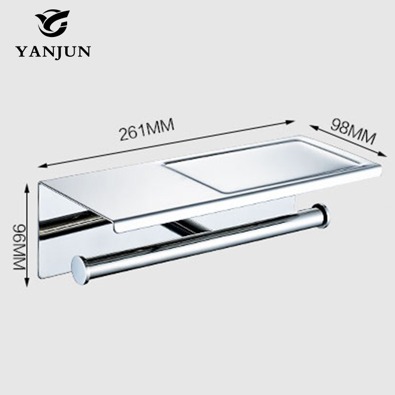 aliexpresscom buy yanjun 2016 new style multi function bathroom shelves double roll toilet paper holders bathroom accessories yj 8861 from reliable - Multi Bathroom 2016