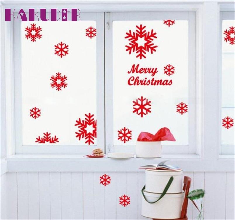 Kakuder Christmas Xmas Stickers 1pc Angel Snowflake Wall Window Vinyl Art Decals Home Decoration 10 2017 Gift Drop