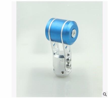 Универсальный Синий ручного переключения передач Ручка с алюминиевый Универсальный для Тюнинг автомобилей переключения передач Pomo Пош EP3 крышка