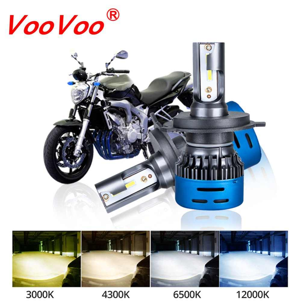 VooVoo Moto H4 Led Headlight Bulbs HS1 LED Motorbike H1 H7 H11 Headlamp Moto Led Light 9600LM Headlight 3000K 4300K 6500K 12000K