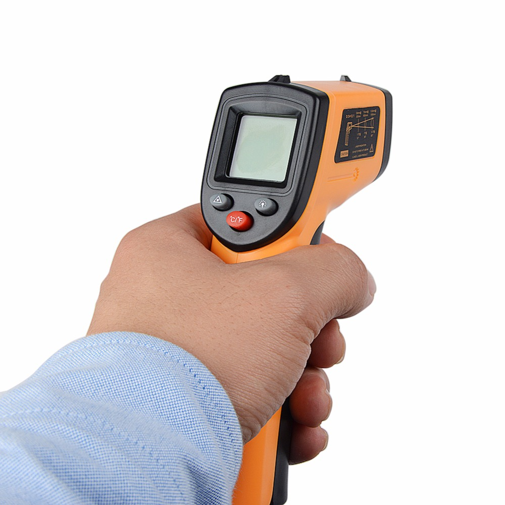 2018 New Laser LCD Digital IR Infrared Thermometer GM320 Temperature Meter Gun Point -50~380 Degree Non-Contact Thermometer po.1 an550 laser lcd digital ir infrared thermometer temperature meter gun 50 500c 58 1022f non contact temperature meter gun