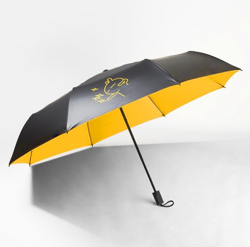Tuzki 3 складной зонтик Корейская версия Для мужчин и Для женщин УФ солнцезащитный крем негабаритных солнца вы Marry Me Кролик Зонтик