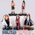 5pcs/lot One Piece Luffy Kaido Ace Shankusu Action Figures Dolls Toys Collection Model Toys Gift Model Doll Toy With Base #EB