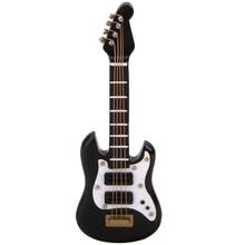 1/12 Dollhouse Miniature Musical Instrument Black E Guitar