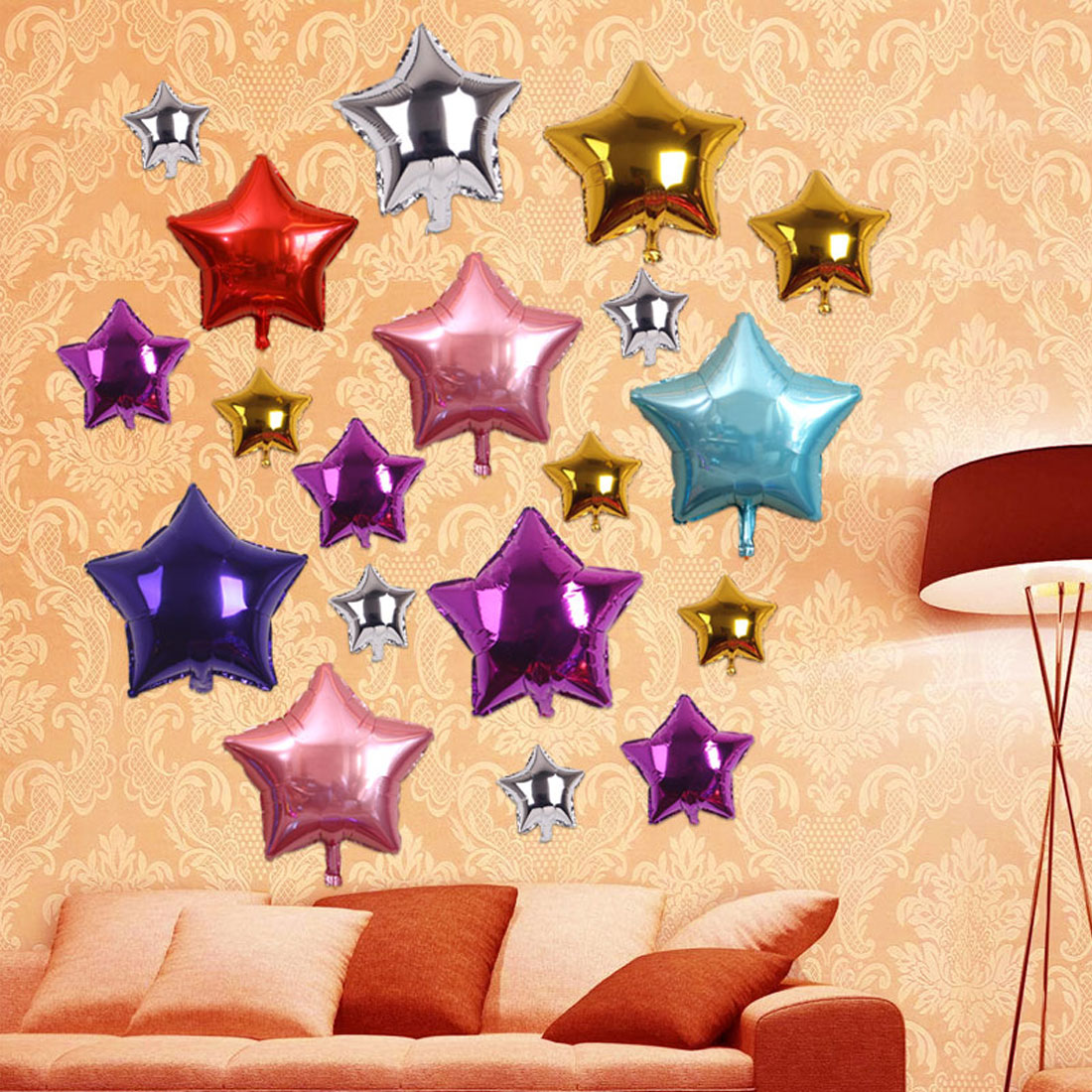 Happy Birthday 10inch star Heart Shape Aluminum Inflatable Foil ...