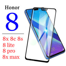 Protective glass on the for huawei honor 8x 8c 8s 8 x c s max pro lite light armor verre display huaway huawie protector s8 x8(China)