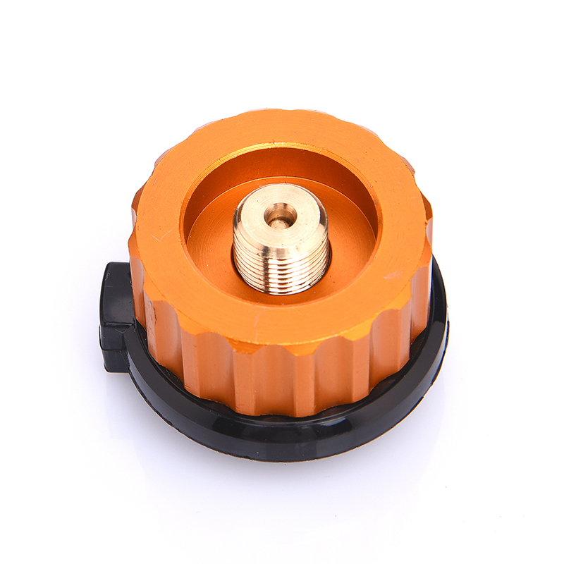 Outdoor Camping Hiking Stove Burner Adaptor Split Type Furnace Converter Connector Auto-off Gas Cartridge Tank cylinder Adapter