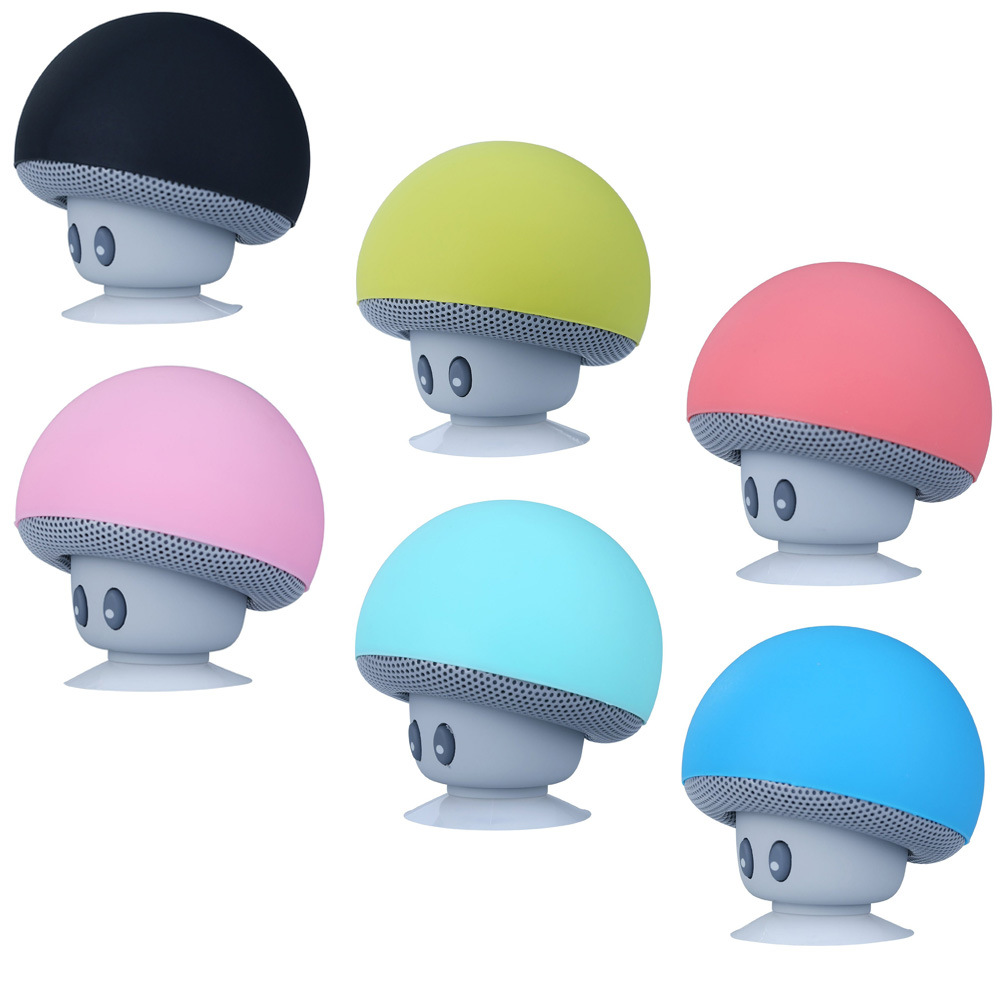 Bass Stereo Suction Cup Mushroom Bluetooth Speaker Wireless Music Player