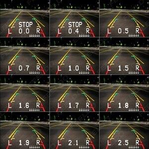 Image 2 - FEELDO Sistema de Radar de estacionamiento para coche, 8 sensores, 2 uds., cámara CCD de 18,5mm, visión trasera Dual, vídeo