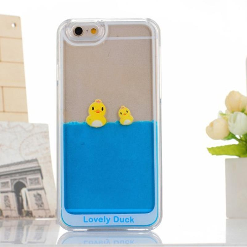 online store 9e619 22559 US $112.0 |Lovely Duck PC Cellular Phone Covers for Samsung Blue Water  Liquid Floating Personality Cell Phone Cases for Iphone LFP009 on ...