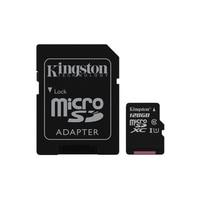 Tarjeta Micro SD Kingston Technology Canvas Select (128 GB, MicroSDXC, Clase 10, UHS I, 80 MB/s) Color negro