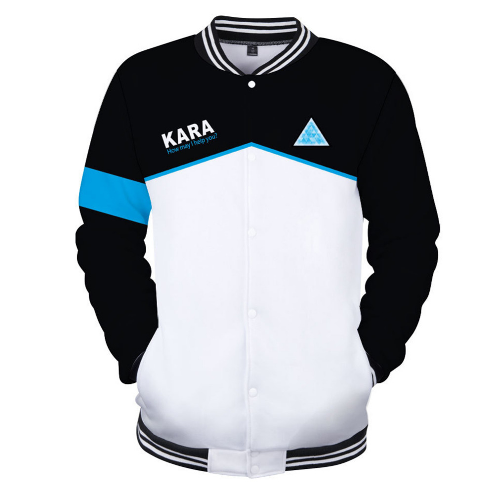 Detroit Become Human Baseball Jacket streetwear tops casual Hoodies unisex trackusuit mens coats and jackets plus size coat