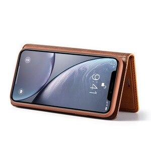 Image 5 - Magnético couro genuíno flip caso carteira para iphone xr 7 xs max casos titular do cartão capa para coque iphone x 8 plus 11 12 pro