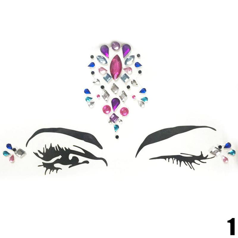 Adhesive Face jewels Gems Temporary Tattoo 3