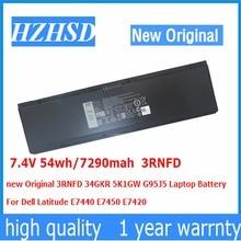 цены на 7.4V 54wh/7290mah 3RNFD new Original 3RNFD 34GKR 5K1GW G95J5 Laptop Battery  For Dell Latitude E7440 E7450 E7420  в интернет-магазинах