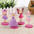 4pcs/set Tinkerbell FAIRY PVC Action Figures 14CM Flying Tinker Bell Fairy Model Dolls Toys for Girls AFD041