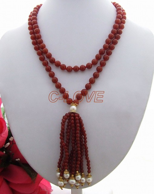 Excellent! Pearl&Agate Necklace free shippment