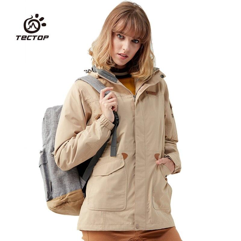 Camping veste extérieure imperméable veste d'hiver femmes femme chasse vêtements coupe-vent tactique polaire chauffée veste de randonnée