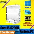 Ген Skylake Hystou Small Desktop i5 6200U i3-6100U Безвентиляторный Мини PC Windows 10 Мини-Компьютер HDMI VGA HTPC TV Box Неттоп PC