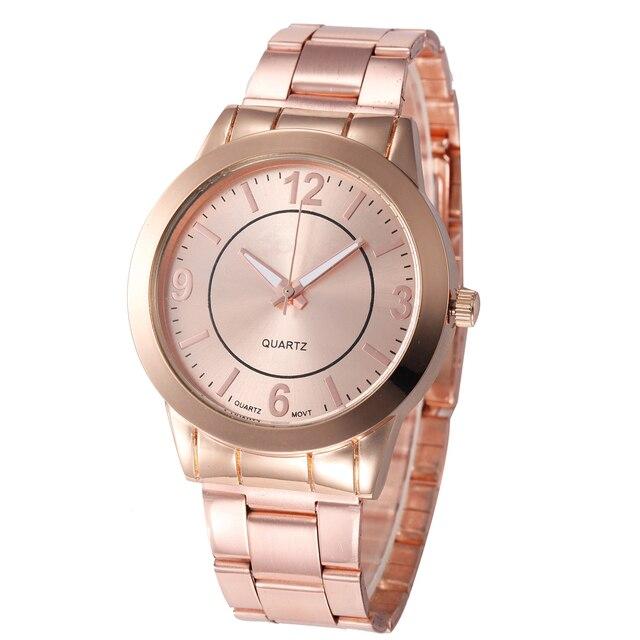 2ba25793e0e Relogio feminino Mulheres Relógio de Ouro Rosa de Prata Das Mulheres Da  Forma Pulseira Relógio de