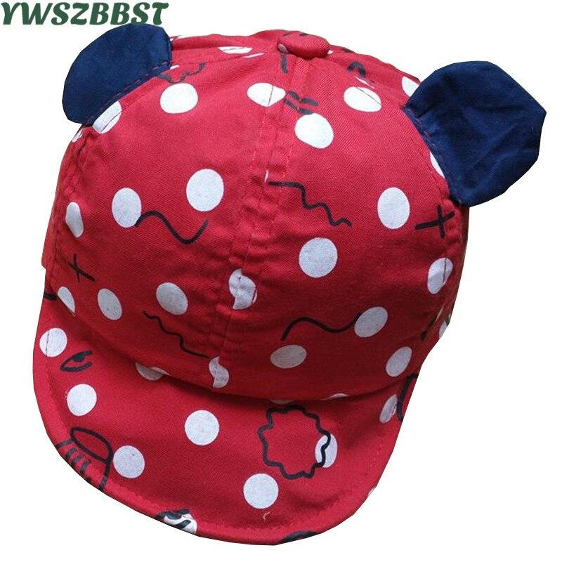 New Baby Baseball Hat with Ears Kids Baseball Hat Baby Boy Beanies Child Summer Caps Sun Hat Girls Visors