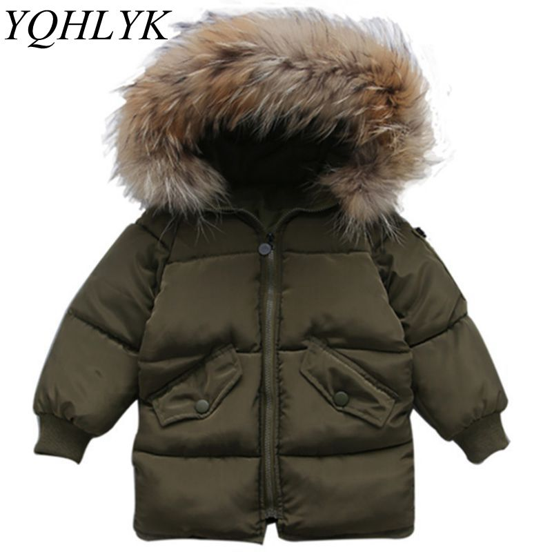 New Fashion Winter Cotton Boys Girls Coat 2018 Korean Children Zipper Hooded Thick Warm Jacket Casual Joker Kids Clothes W134 new winter girls boys hooded cotton jacket kids thick warm coat rex rabbit hair super large raccoon fur collar jacket 17n1120