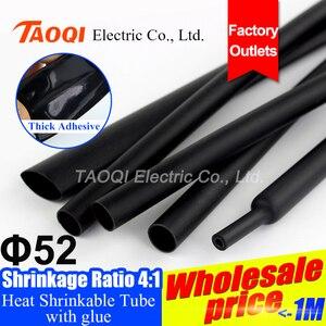 1,22 м/лот 52 мм 4:1 термоусадочная трубка с клеем на клейкой подкладке двойная стена изоляция обмотки провода кабель комплект