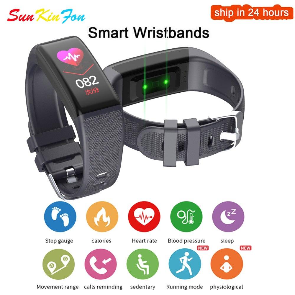 Модный умный спортивный браслет для измерения артериального давления, пульсометр, умный Браслет для здоровья Huawei Honor 10 9i Play V10 9 8