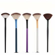 1 Piece Novelty Fan Shape Makeup Brushes Portable Foundation  Eyebrow Eyeshadow Brush Makeup Brush Cosmetic Beauty Tool недорого